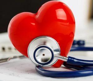 stethoscope on a heart